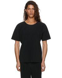 Homme Plissé Issey Miyake - Black Pleated T-shirt - Lyst