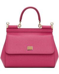 9d94399e294 Dolce & Gabbana Miss Sicily Small Handbag in Gray - Lyst