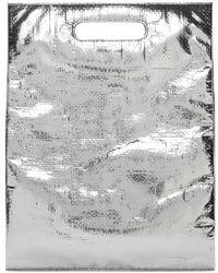 Helmut Lang - Silver Freezer Bag Clutch - Lyst