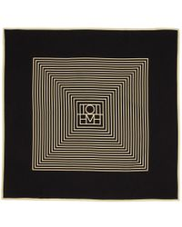 Totême  - Black And Off-white Venezia Scarf - Lyst