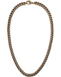 Balenciaga - Gold Chain Necklace - Lyst