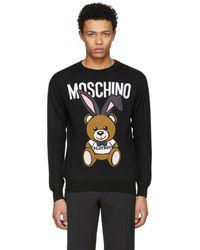 Moschino - Black Playboy Teddy Bear Sweater - Lyst