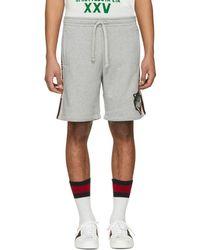 Gucci - Grey Logo Band Shorts - Lyst