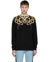 Marcelo Burlon   Black Snake Sweatshirt   Lyst