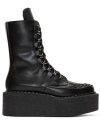 Junya Watanabe - Black Platform Creeper Boots - Lyst