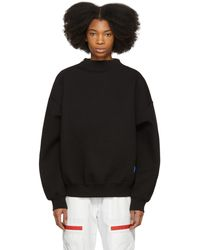 ADER error - Black Zipper Sweatshirt - Lyst