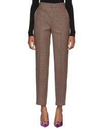 Balenciaga - Brown Check Carrot Trousers - Lyst