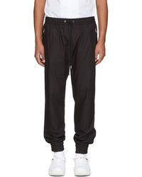 Dolce & Gabbana - Black Poplin Track Trousers - Lyst