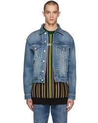Balenciaga - Blue Denim Campaign Logo Jacket - Lyst