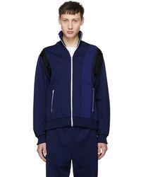 Maison Margiela - Blue Panelled Track Jacket - Lyst