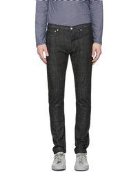A.P.C. - Ssense Exclusive Black Petit New Standard Jeans - Lyst