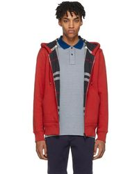 Burberry - Red Fordson Core Zip Hoodie - Lyst