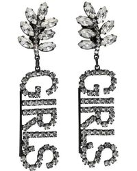 Ashley Williams - Black Crystal Girls Clip-on Earrings. - Lyst
