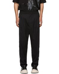 D by D - Black Glossy Stripe Trousers - Lyst