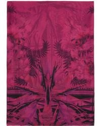 Givenchy | Black And Pink Iris Shawl | Lyst