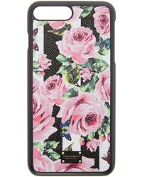 Dolce & Gabbana - Black Stripes And Flowers Iphone 7 Plus Case - Lyst