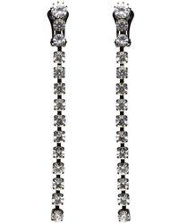 Ashley Williams - Black Crystal Single Fall Earrings - Lyst