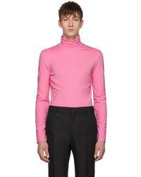 CALVIN KLEIN 205W39NYC - Pink Logo Turtleneck - Lyst