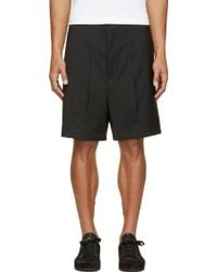 Thamanyah - Black Vented Panel Shorts - Lyst