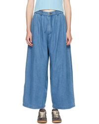 69 - Blue Pleated Jeans - Lyst