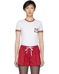 Cheap 2018 White Patch Vintage T-Shirt Miu Miu Sale New Styles ERXyOt1Huz