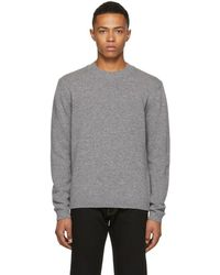Versace - Grey Small Medusa Sweater - Lyst