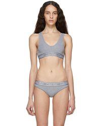 Calvin Klein - Reversible Grey Flx Bralette - Lyst