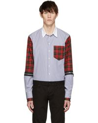 DSquared² - Multicolour Mixed Stripe And Check Military Shirt - Lyst