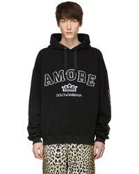 Dolce & Gabbana | Black Amore Hoodie | Lyst