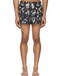 Dolce & Gabbana - Black Jazz Musician Swim Shorts - Lyst