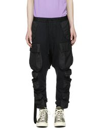 Unravel | Black Jersey Pocket Cargo Pants | Lyst