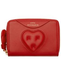 Anya Hindmarch - Red Small Chubby Heart Zip Wallet - Lyst