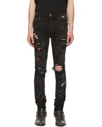 22c79d8bd94 Amiri Black Art Patch Jeans in Black for Men - Save 23% - Lyst