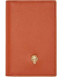 Alexander McQueen - Orange Skull Bifold Card Holder - Lyst