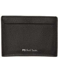 PS by Paul Smith - Black Leather Card Holder - Lyst
