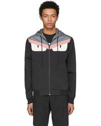 Fendi | Reversible Black And Grey Bag Bugs Jacket | Lyst