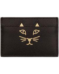 Charlotte Olympia - Black Feline Card Holder - Lyst
