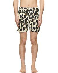 Solid & Striped - Maillot de bain a motif leopard bain blanc casse Classic - Lyst