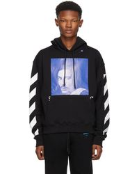 Off-White c/o Virgil Abloh - Printed Fleece-back Cotton-jersey Hoodie - Lyst