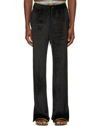 Versace - Black Chenille Lounge Trousers - Lyst