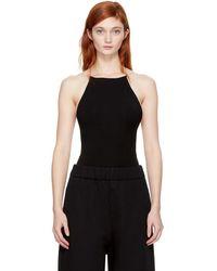 T By Alexander Wang - Black Criss Cross Bodysuit - Lyst