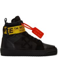 Off-White c/o Virgil Abloh - Baskets montantes noires Industrial - Lyst