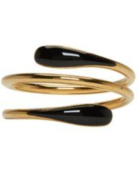 Isabel Marant - Gold & Black Wrap Ring - Lyst
