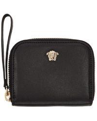 Versace - Black Medusa Zip Wallet - Lyst