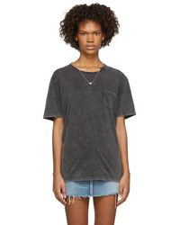 0f2cc9b3f77533 Saint Laurent Destroyed Poker T-shirt in Natural - Save 37% - Lyst