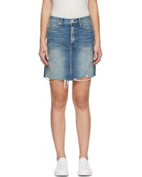 AMO - Blue Denim Gemma Miniskirt - Lyst