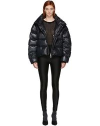 Unravel - Black Down Cropped Jacket - Lyst