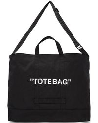Off-White c/o Virgil Abloh - Black Quote Tote - Lyst