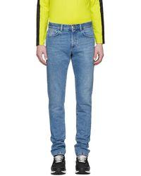 Versus - Blue Skinny Jeans - Lyst