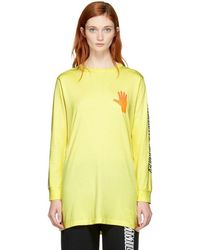 Ashley Williams - Yellow Gimmie Five T-shirt Dress - Lyst